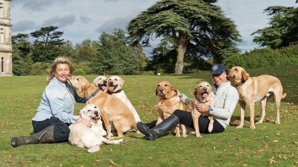 At home in Highclere Castle with Lady Carnarvon and friends