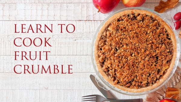 Gooseberry and Apple Crumbles