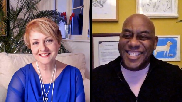 Anne Diamond interviews British celebrity chef Ainsley Harriot, MBE