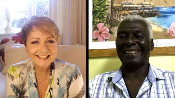 Anne Diamond interviews Basil Charles, owner of Basil's Bar in Mustique