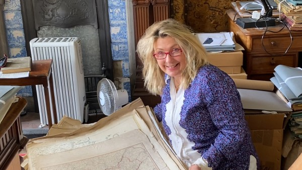 At home with Lady Carnarvon and the maps of Highclere Castle