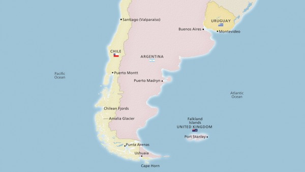 South America & the Chilean Fjords (Ocean)