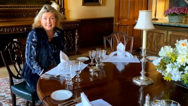 At Home at Highclere Castle: The Dining Room