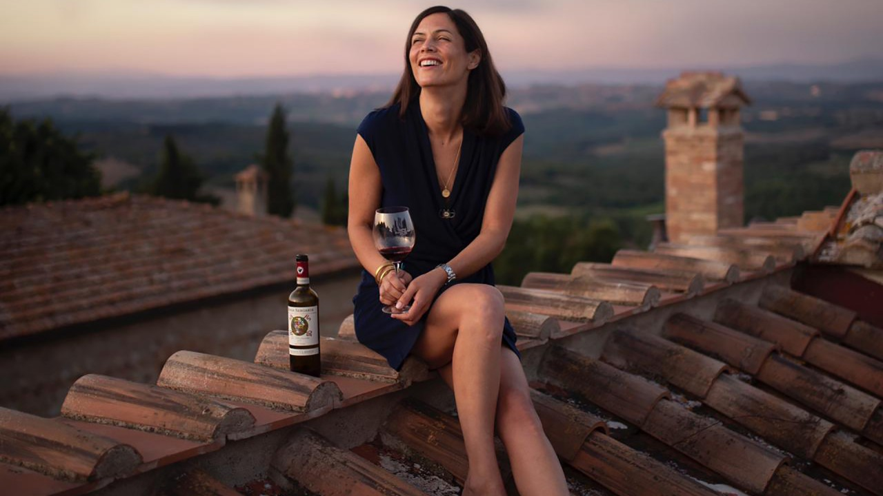 Bartholomew Broadbent talks with Alessandra Casini Bindi Sergardi